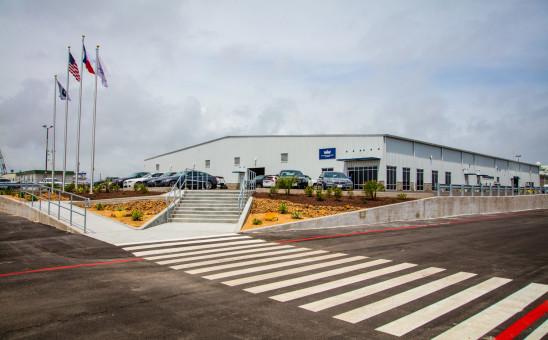 Galveston Auto Facility Entrance